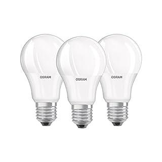 Osram LED Base Classic A Lampe, in Kolbenform mit E27-Sockel, nicht dimmbar, Ersetzt 60 Watt, Matt, Warmweiß - 2700 Kelvin, 3er-Pack