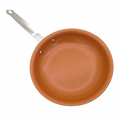 Non-stick Kupfer Pfanne mit Keramikbeschichtung und Induktion kochen, Backofen- und Spülmaschinenfest 10 & 8 Zoll