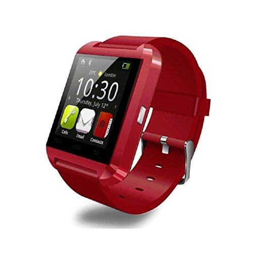 OPTA SW-004 Bluetooth Smart Watch Phone Touch Screen Multilanguage Android/IOS Mobile Phone Wrist Watch Phone with activity trackers and fitness band features compatible with Samsung IPhone HTC Moto Intex Vivo Mi One Plus and many others! Launch Offer!!