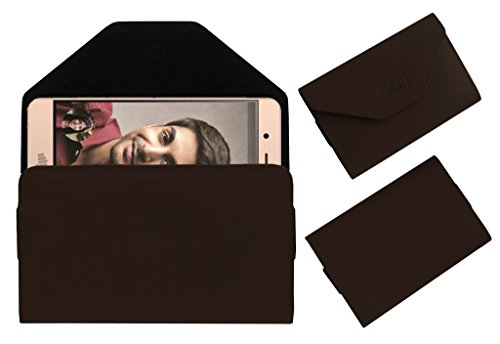 Acm Premium Flip Flap Pouch Case for Micromax Vdeo2 Mobile Leather Cover Brown  available at amazon for Rs.179