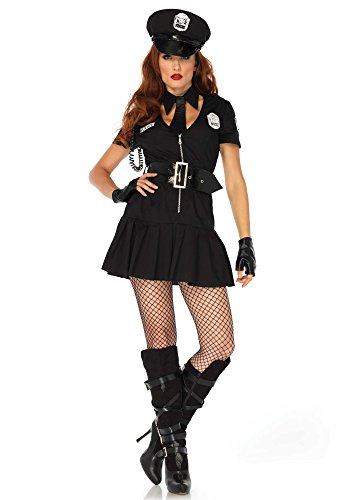 Leg Avenue Damen Arresting Officer Kostüme, Black, M/L