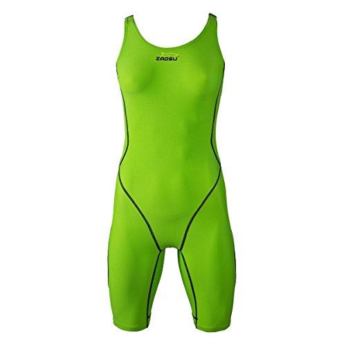 ZAOSU Wettkampf-Schwimmanzug Z-Green für Damen & Mädchen, Größe:40
