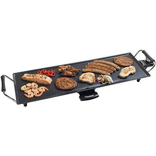 Bestron Plancha/Plaque de cuisson teppanyaki électrique XL antiadhésive, 1000 W, Noir