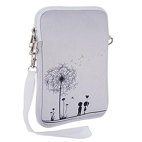 ucasek Schutz Hülle Etui Tasche für iPad Mini Modelle & 15,2–20,3cm Q88Y88X Kids Dragon Touch Android Tablet White lover Dandelion