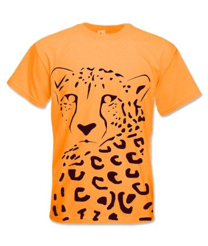 Mens Premium Printed T Shirt Lucy The Cheetah Gr. X-Large, Diva Blue (Diva Cheetah)