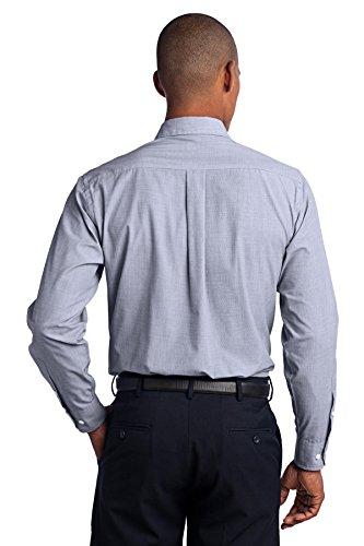 Port Authority Herren ist groß Crosshatch Easy Care Shirt Navy Frost