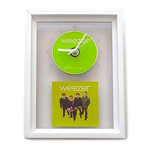 WEEZER – Green Album: GERAHMTE CD-WANDUHR/Exklusives Design