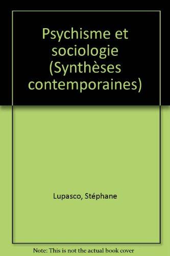 Psychisme et sociologie