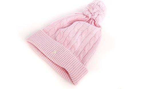 Polo Ralph Lauren Damen Bommelmütze Beanie Mütze Wintermütze rosa one Size