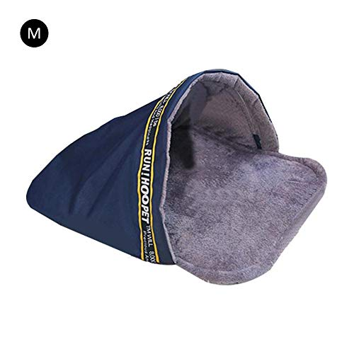 PROKTH Cálido Suave Cama para Mascotas Saco de Dormir para Mascotas Mascota Felpa Nido Cueva Pequeños Gatos Medianos y Grandes Perros...