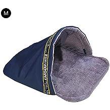 PROKTH Cálido Suave Cama para Mascotas Saco de Dormir para Mascotas Mascota Felpa Nido Cueva Pequeños