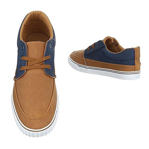 Ital-Design , Chaussures à lacets homme Camel Blau