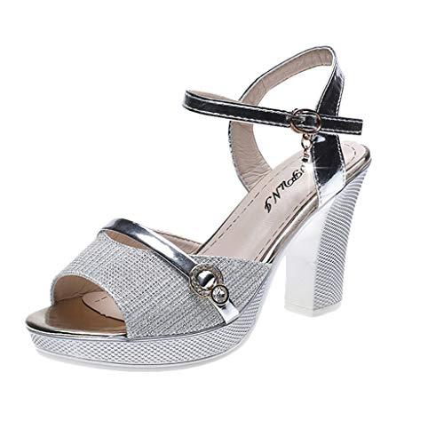 FRAUIT Zapatos de Fiesta de Las Mujeres Zapatos de Tacón Alto Sandalias de Vestir Zapatos Mujer Verano...
