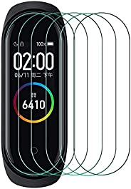AFGLOOY 6 Pack Screen Protector Compatible with Xiaomi Mi Band 5, Full Coverage TPU Flexible Protective Film S