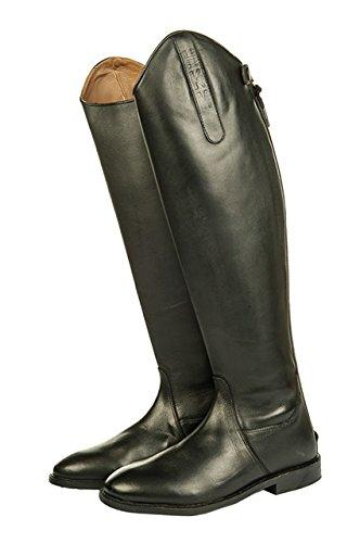 HKM Herren Reitstiefel-Italy,Soft Leder, Normal/Extra Weit, Schwarz, 42