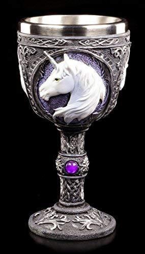 Kelch mit Einhorn lila - Unicorn Elixir | Fantasy Weinglas
