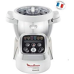 Moulinex HF802AA1 Robot Cuiseur Multifonction Companion - 6 programmes automatiques, 5 accessoires inclus, capacité jusqu'à 6 personnes, 1 million de menus