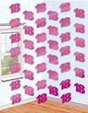 Amscan 6 Deckenhänger in Pink *18*