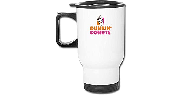 Qurbet Dunkin Donuts Logo Coffee Cup Stainless Steel Water Bottle Cup Travel Mug Coffee Tumbler with Spill Proof Lid