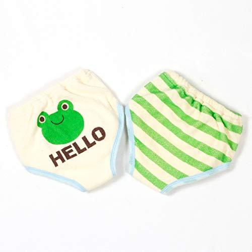 Hehong Baby Töpfchen Trainingshose Unterwäsche Kleinkind Ausbildung Wiederverwendbare 6 Schichten Weicher Baumwolle Saugfähigen Schicht Cartoon Nette für Jungen Mädchen (2 paket)