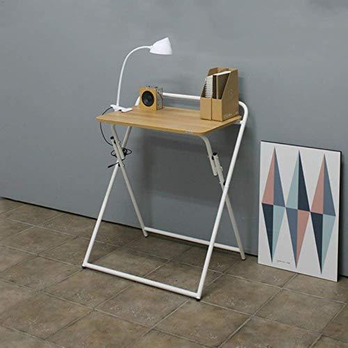 Tingting Couchtisch Kaffeetisch Esszimmertische Klappbarer Laptop-Tisch Aus Holz Und Metall Computertisch Schreibtisch Home Office Keine Montage Erforderlich (Farbe : Weiß, größe : 60 * 40 * 72cm) -