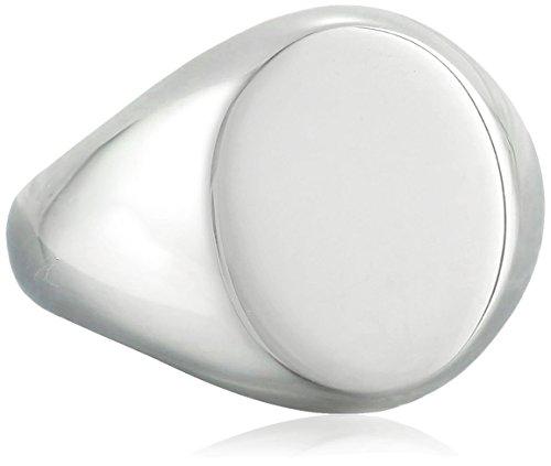 Einfache MonograMM Gravierbaren 925 Sterling Silber Oval Siegelring Für Herren Für Damen