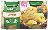 Blédina, Mon 1er Petit Pot Compote Pommes dès 4/6 mois, Pack de 12