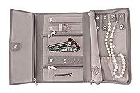 Saffiano Leather Travel Jewelry Case - Jewelry Organizer by Case Elegance