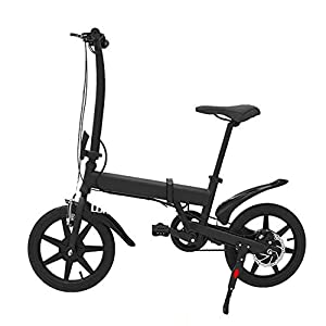 Ambm Mini Folding Electric Bicycle Portable Moped