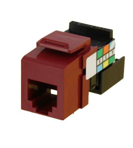 Leviton 41106-RR6 6P6C Voice Grade QuickPort Connector, Red by Leviton (Leviton Audio)