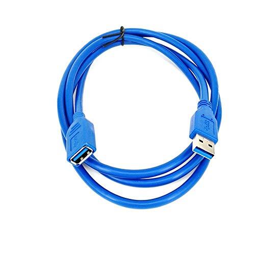 Verlängerungskabel 0,5/1/2/3 / 5M USB 3.0 A-Stecker auf Buchse Daten-Synchronisationskabel Kabel 5 Gbit/s (5m Blau)