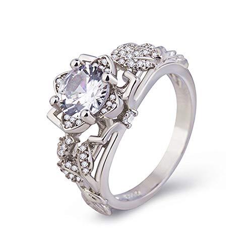 Mode Frauen Pferd Augenform Juwel Gepunktete Ehering Geschenke Ring YunYoud ringgröße ringmarken stahlschmuck Accessoires bastelringe Damen Ringe verlobungsringe