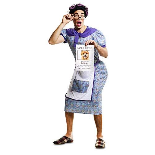 n Kostüm verzweifelte Oma Sucht Hündchen Gr. M/L Hausfrau Dicke Oma Karneval Spasskostüm Joke ()