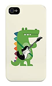 Croco Rock hard plastic back case for iphone 4
