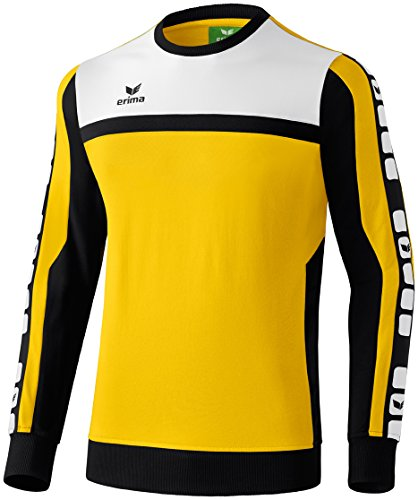 Erima Herren Classic 5-C Sweatshirt, gelb/schwarz/weiß, L