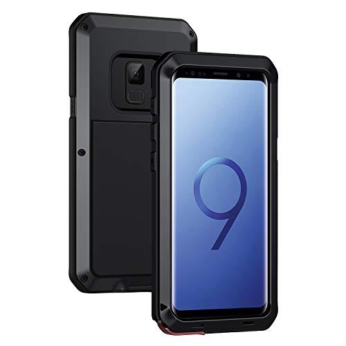 seacosmo Galaxy S9 Hülle, [Tough Armor] Aluminium Doppelte Schutz Stoßfest Schutzhülle für Samsung Galaxy S9, Schwarz