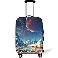 XER Spandex Suitcase Protective Anti-Scratch Washable Protector Cover for 18-32 Inch Travel Luggage Suitcase Protector,A,M