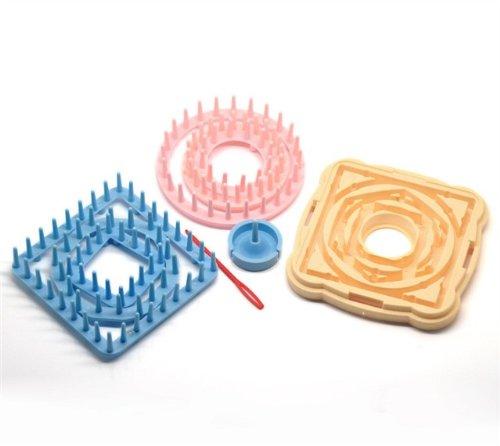 CKB Ltd Knitting Flower Loom Set Patterns Tassel Kit Inklusive Runde Platz Hexagon für Garn Looms CKBB830079 Kind Knitting Loom