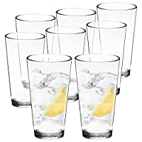 Youngever 22 oz Bistro Clear Plastic Tumblers, Premium Quality Plastic Drinking Glasses, Reusable Plastic Cups, Unbreakable Glasses, Set of 6