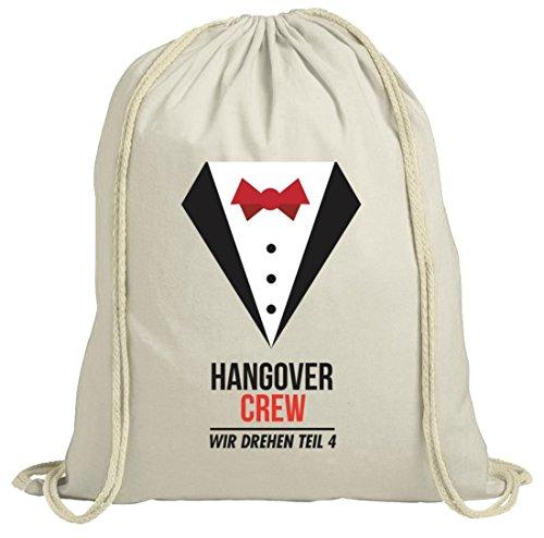 Junggesellenabschieds JGA Hochzeit natur Turnbeutel Suit Hangover Crew Natur