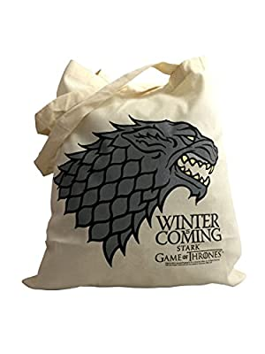 Official Game of Thrones Stark Sigil House Emblem Tote Shopping Shopper Bag