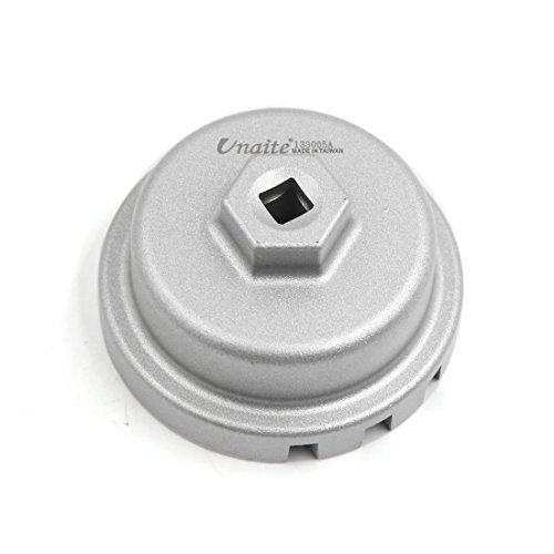 sourcingmap Vehicle Car 1//2-inch Drive 64mmx14 Flutes Oil Filter Cap Wrench Socket