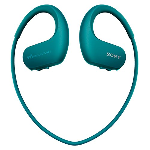 Sony NW-WS413 Lettore Musicale Digitale Walkman Wireless, Memoria interna 4GB, Resistente all'acqua, Blu