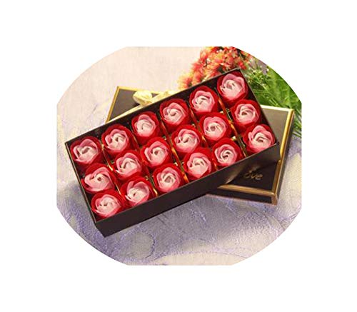 Gradient Soap Blume Rose Simulation für Hochzeit 18 PC Rose, 6, wie unten Gezeigt ()