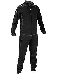 Stanno Forza Traje de poliéster Chándal Negro de gris Niños (Negro de antracita), color Negro - negro, tamaño 164