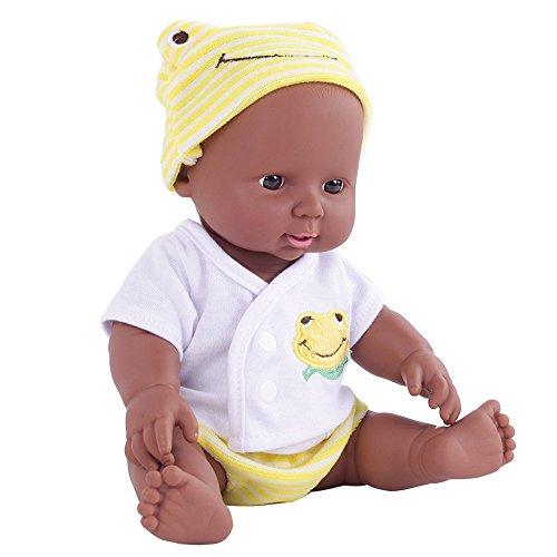 DOGZI Reborn Bebé Simulation Doll Soft Niños Bebé renacido Juguetes recién Nacidos Regalo de cumpleaños de niña Chico Adecuado para Edades 3+ ,Viernes Negro Juguetes para niños