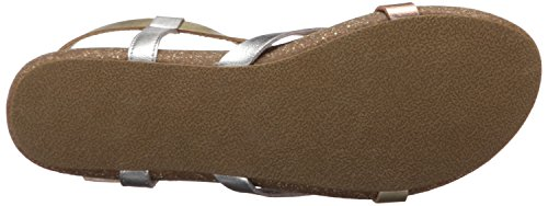 Blowfish Womens Granola Fisherman Sandal Silver/Multi