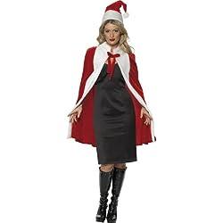Smiffy's - Disfraz de Papá Noel para mujer, talla única (28007-KIT)