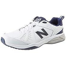 New Balance 624v5, Scarpe Sportive Indoor Uomo, Bianco (White/Navy), 44 EUXX Wide