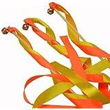 AiYingYing Césped Boda caliente Campo Ribbon Bar un hada Varita mágica Cumpleaños Infantil suministros decoración de bodas 10 conjuntos naranja
